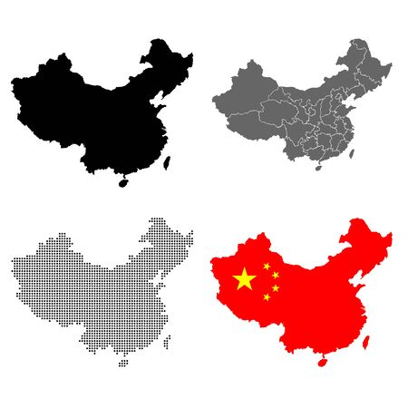 A set of detailed accurate vector maps of China