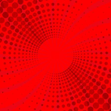 Red and light red retro comic background Ilustração