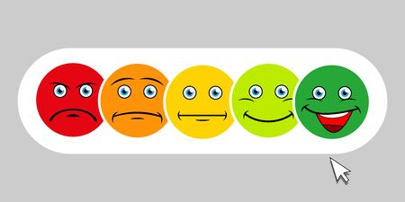 High quality vector round yellow cartoon bubble emoticons comment