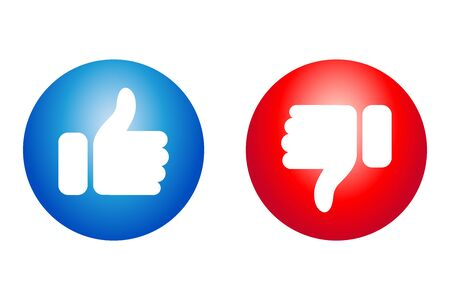 Like and dislike icon for your sites and apps Çizim