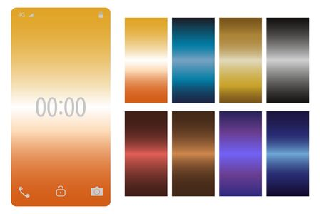 Screens vibrant gradient background for smartphones and mobile phones.