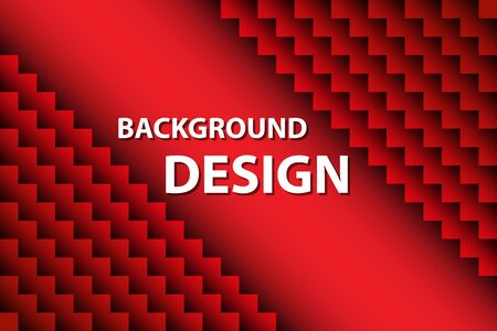 Red geometric background for your unique design 矢量图像