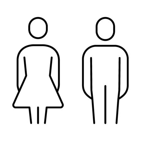 Simple basic sign icon man and woman