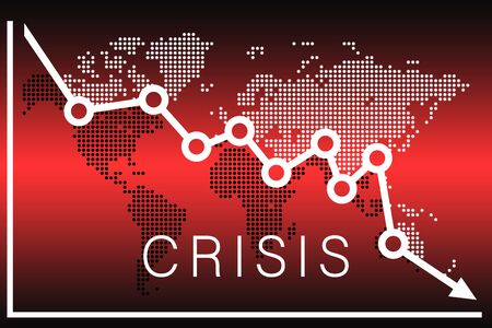 International financial crisis illustration of the fall 免版税图像 - 149479699