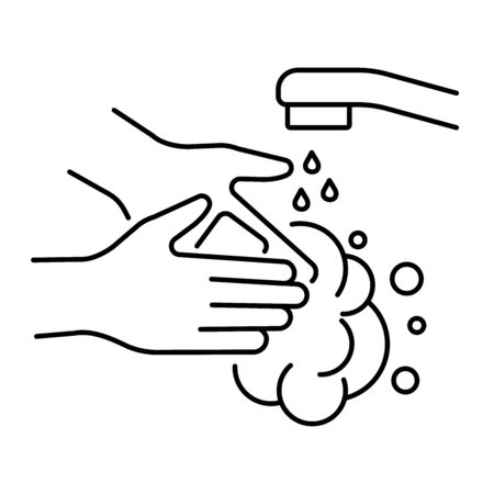 Simple hand washing icon for virus protection Illusztráció