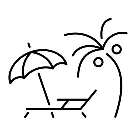 A simple icon for a summer vacation or vacation 矢量图像