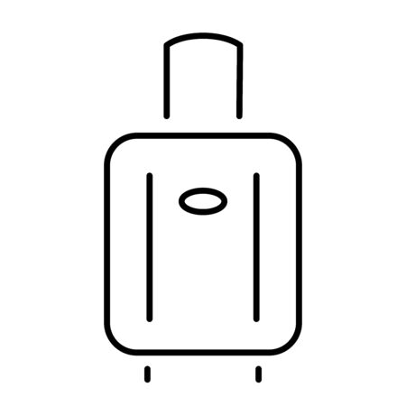 Simple icon of a suitcase on wheels.