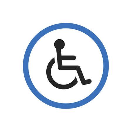 Disabled handicap icon Illustration