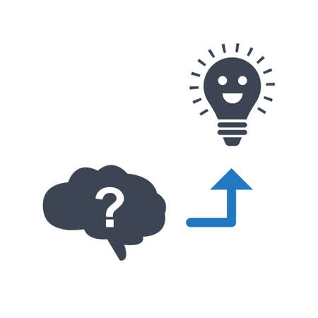Generate Idea, Brainstorming, idea development icon
