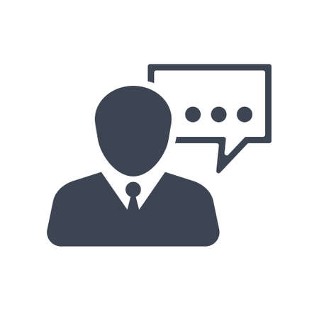 SEO Consultant Icon Stock Illustratie