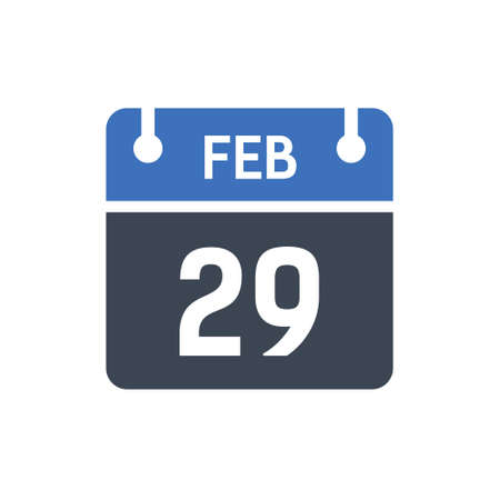 Calendar Date Icon - February 29 Vector Graphic