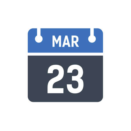 Calendar Date Icon - March Vector Graphic