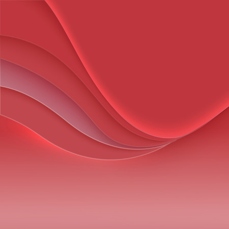 Wavy layers for the cover or banner. Abstract soft vector background Illustration