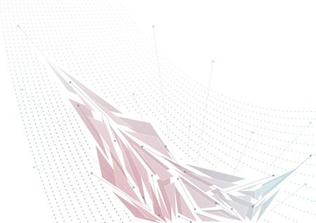 Digital fragmentation design. Business virtual concept. Vector background