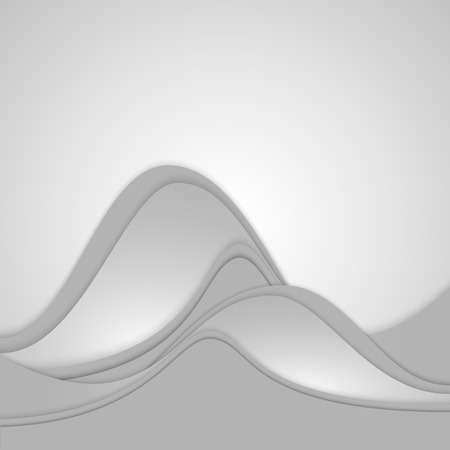A modern futuristic collection of wavy layers of soft gradient paper. Vector illustration
