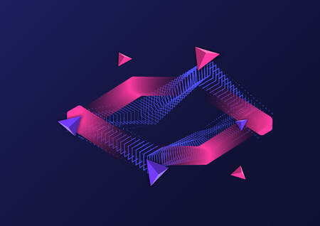Abstract geometric figure for text.