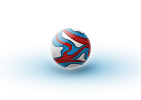 Abstraction in the form of a sphere from many layers of paper. Glass sphere or ball. Bubble with a muddy texture. Football world cup in Russia