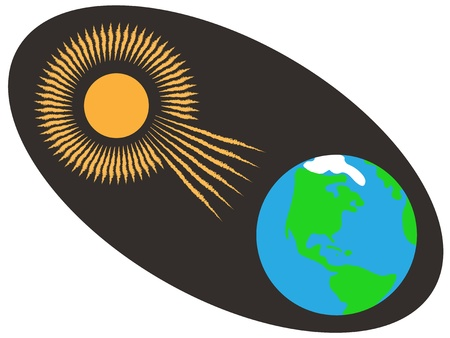 sun and earth Stock Vector - 16784009