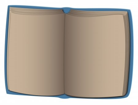 blue book with empty paper sheets Stock Vector - 17452997