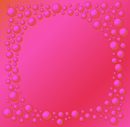 watter: red background with red bubbles of different size - like red watter bubbles