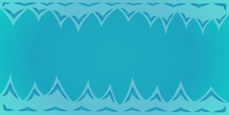 blue background of the cave with spikes on the top and bottom Vector
