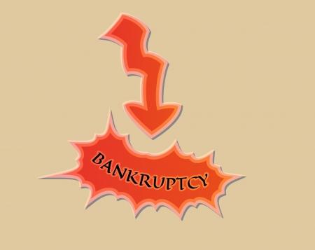 faillite: fl�che et de la faillite