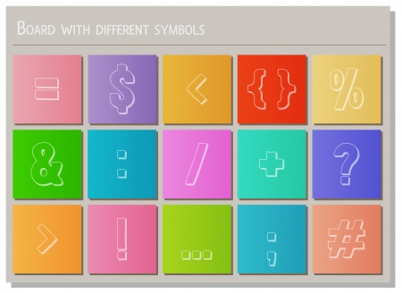 board with different symbols and different color Stock Vector - 21160836