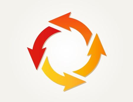 verloopcirkel pijlen van verschillende kleuren Stock Illustratie