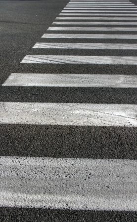 pedestrian crossing - black street and white lines