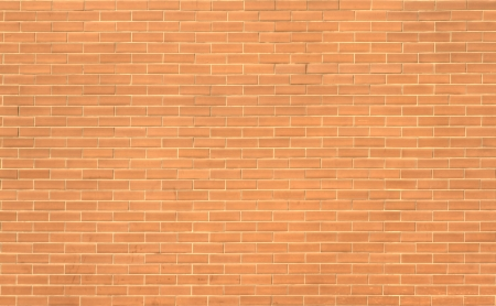 wall made from the red bricks photo