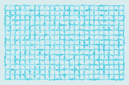 blue squared grid with spiked lines can represent frozen grid