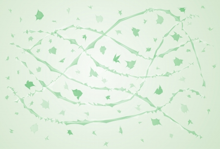 flit: green lined windy net and few green flying pieces Illustration