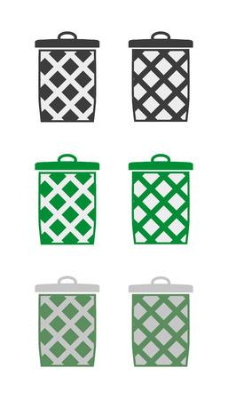 wastepaper basket: sei diverse sagome cestino - cestino, cestino della carta straccia o cestino di vestiti
