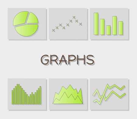 graphs icons with six types of graphs 版權商用圖片 - 22469983
