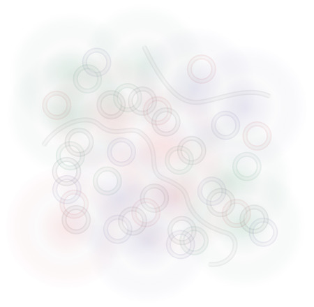 gradient lines and joined rings in gray, red and green light colors, it can represents abstract looking into a microscope Stock Vector - 23521680