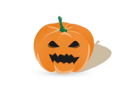 dark eyes: orange halloween pumpkin with dark eyes and mouth