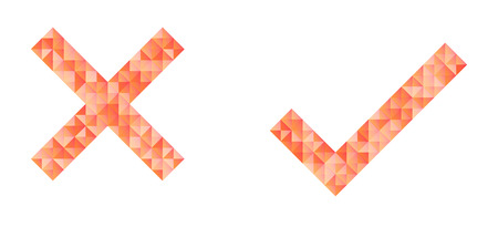 check marks created from different color triangles Vector