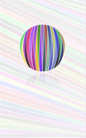 ball like: background with many color lines and color ball like a rainbow