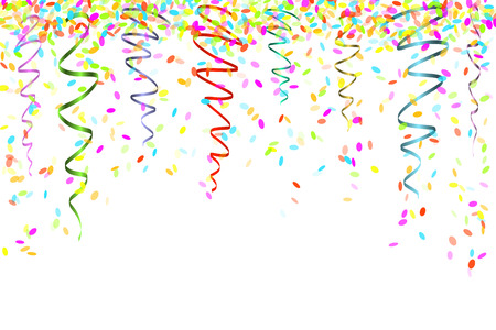 confetti background: falling oval confetti with different colors and size