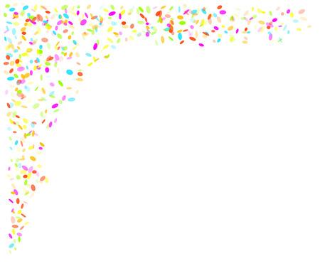 vallen ovale confetti met verschillende kleuren en grootte