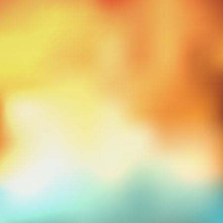 postcard background: abstract background with orange, yellow, white and blue colors Illustration