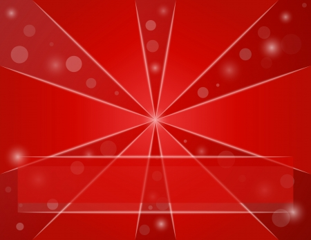 red background with shining ball, triangles and lines Vector
