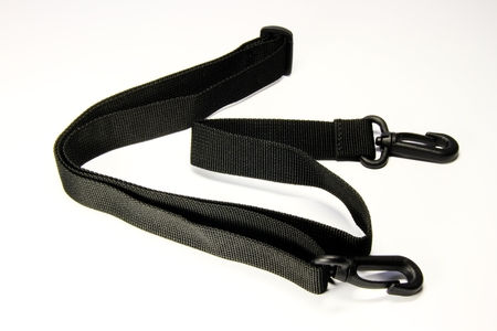 photo of the black strap on white background photo