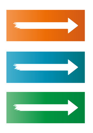 jagged: three different white jagged arrows on color background