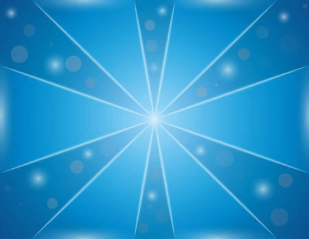 blue background with shining ball, triangles and lines Vector