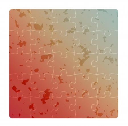 logical: gradient field of puzzles with rounded corners and spots Illustration