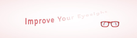 fade away: improve your eyesight with fade away text as a sign of needed of glasses Illustration