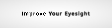 improve your eyesight with sharp and unsharp text as a sign of needed of glasses Illustration