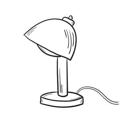 sketch of the lamp on white background, isolated Vector