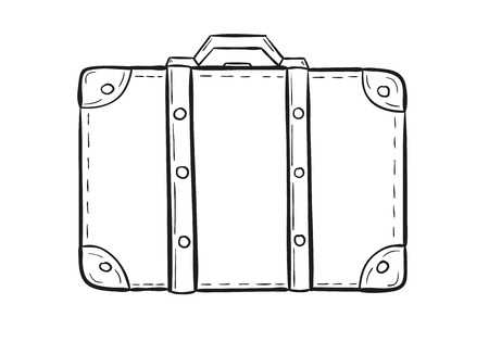 sketch of the suitcase on white background, isolated 版權商用圖片 - 26502510